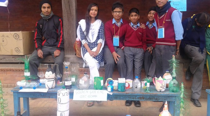Exhibition of Bottle Project at Durbar Square