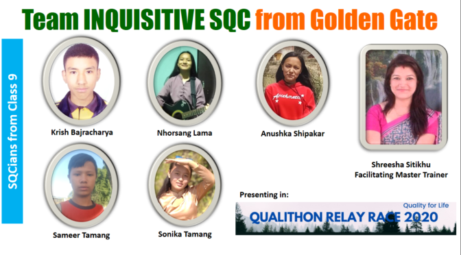 Golden Gate's SQC Rocks Qualithon Relay Race 2020